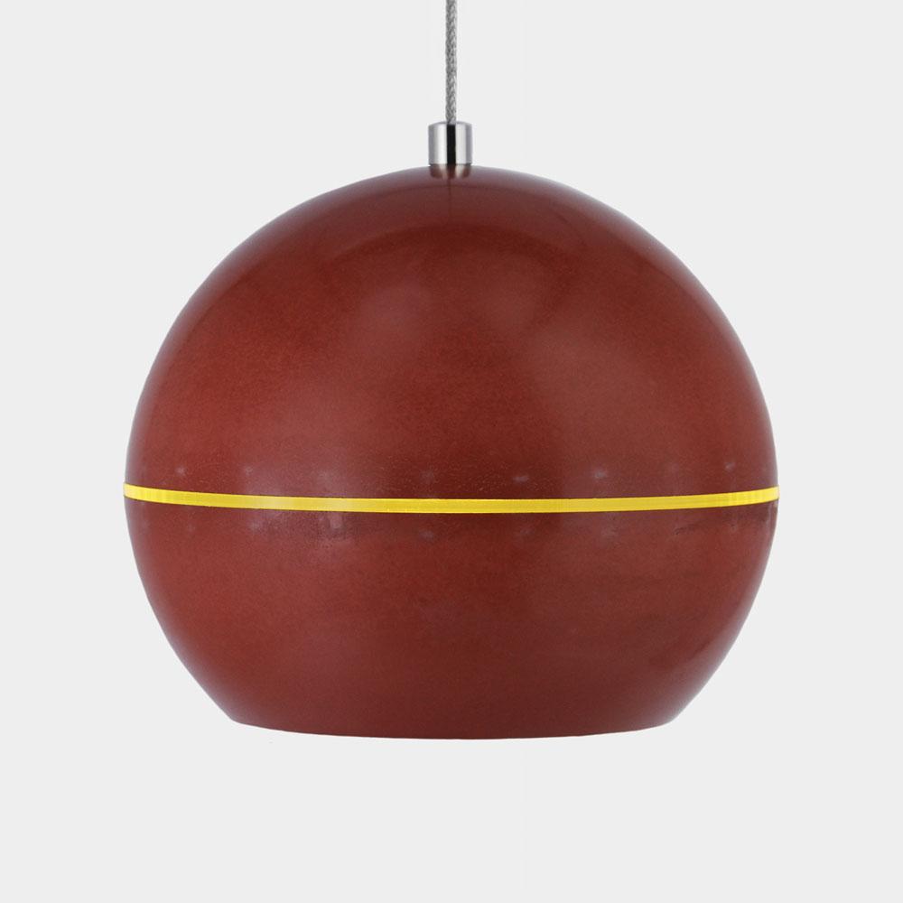 Coxalı Leuchte : Cygnı · Ø18cm · Rot · Brick · Lichtring Gelb Transparent